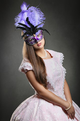 Beautiful woman ready for Venice carnival