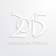 """Carte """"MEILLEURS VŒUX 2015"""" (bonne année joyeuses fêtes)"""