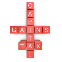 Capital Gain Tax Crossword Concept