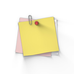 Yellow Adhesive Blank Paper Note
