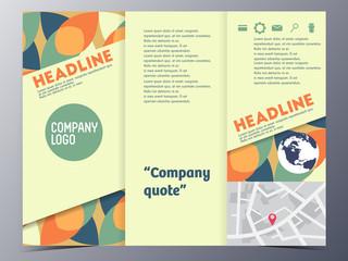 yellow modern vector brochure template design