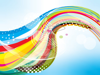 vector illustration of colorful wave background