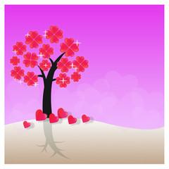 Love tree - Illustration
