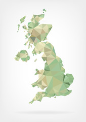 Low Poly map of United Kingdom