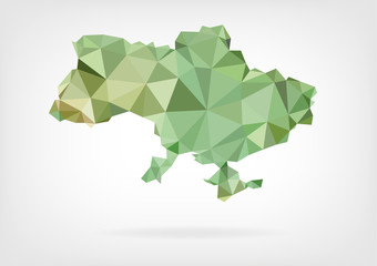 Low Poly map of Ukraine