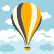 illustration of hot air balloons on the sky - 75132219
