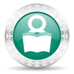 book green icon,  reading room sign, bookshop symbol