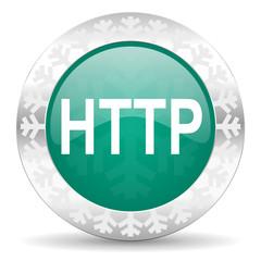 http green icon, christmas button