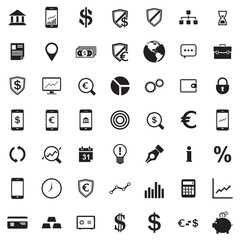 Banking and Business icon set
