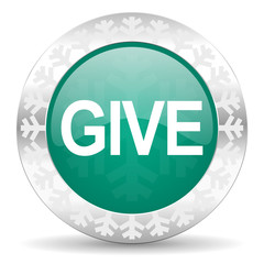 give green icon, christmas button