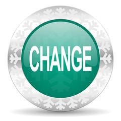 change green icon, christmas button