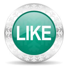 like green icon, christmas button