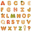 Xmas Gingerbread Cookie Alphabet - 75134298