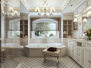 Family bathroom classic style