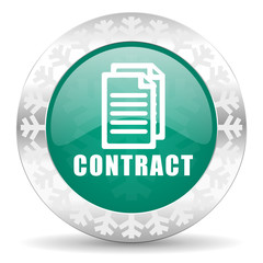 contract green icon, christmas button