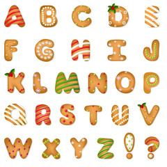 Xmas Gingerbread Cookie Alphabet