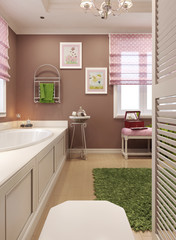 Bathroom for girls in classic style