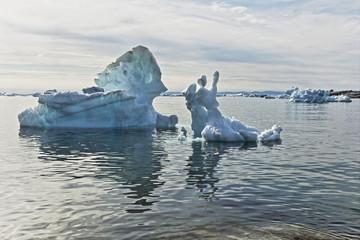 Ice figures at Ilulissat, Greenland.