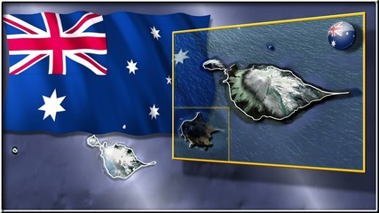 Heard and McDonald Islands flag and map animation