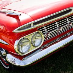 Details of a classic car