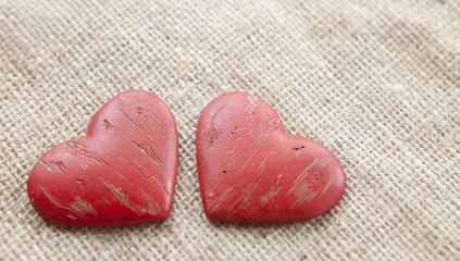 couple de coeur rouge