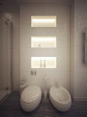 toilet and bidet modern style