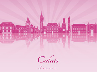 Calais skyline in purple radiant orchid
