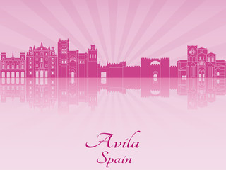 Avila skyline in purple radiant orchid