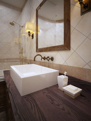Bathroom in provence style