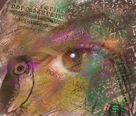 Mixed Media Eye Collage