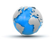 3d Globe (clipping path included) - 75136206