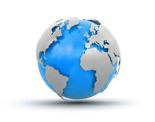 3d Globe (clipping path included)