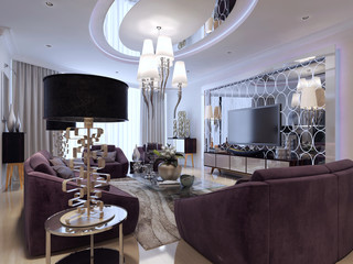 Living room in neoclassical style