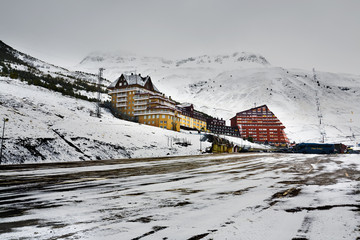 Estación invernal en Astún. Aragón