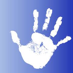 Conceptual mother and child hand print background