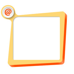 vector text box for any text and email icon