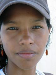 pretty  Creole Latina woman from Corn Island Nicaragua