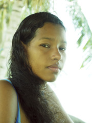 latina woman thinking