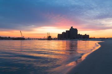 Dawn on the Coast.  Far Rockaway. Long Island. New York.