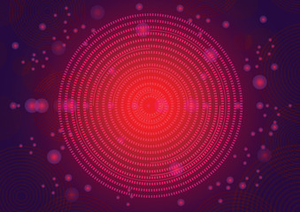 red circle glow abstract background