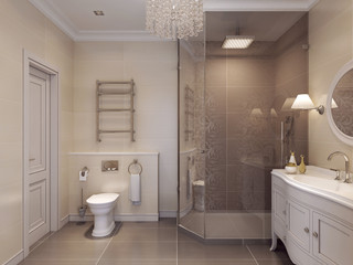 Bathroom in classic style