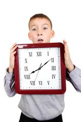 Kid with Big Clock