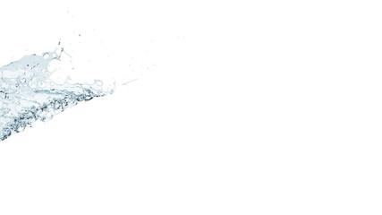 slow motion blue water splash with alpha matte