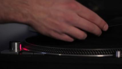 Music player playing vinyl