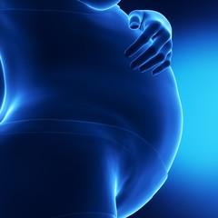 Blue x-ray pregnant woman