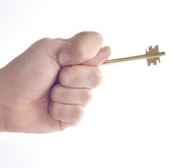 Ключ в руке с жестом фига