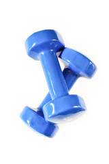 Dumbbell for fitness, muscle building on a white background