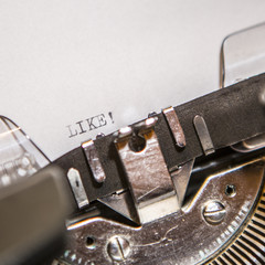 old typewriter with text like