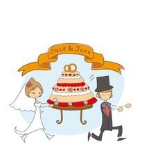 Свадебный каракули фон