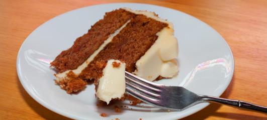 Fork full of cake